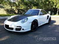 2008 Porsche 911 997 twin turbo coupe finished in white