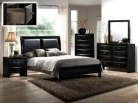 B4280 Emily Black Bedroom Suite. Includes Dresser,