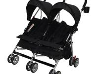This Babies R' Us Side by Side Stroller in Black is a