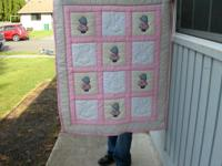 Hand made Baby Afghans and Baby Quilts. The Quilts are