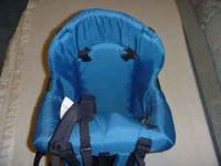 Evenflo baby back pack. Like new condition. Blue. Phone