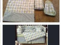Used baby bedding in great shape. $40.00