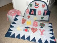 Baby comforter, head of crib decoration, bumper pad,
