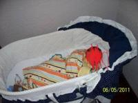 Baby Blue Bassinet $25.00  used for a month in good