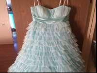 Baby blue prom dress size 14 15, $200.00 OBO call or