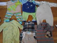 All clothes size 0-6 months, like new most never worn,