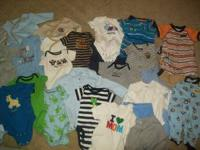 6 Month to 12 month clothing alot of 9 month .50 to a