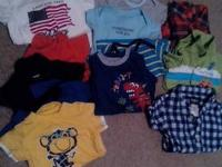 Baby boy clothes in sizes 3 months, 3-6 months, and 6