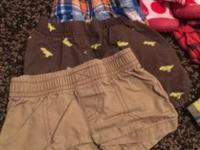 Baby boy clothes from 3-12 months. And shoes size