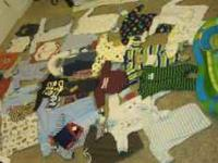 Lots of boy clothes from newborn to 6mos.... Furry