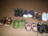 I HAVE TEN PAIR OF BABY BOY SHOES NEW BORN TIL SIX