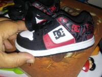 Size 5c red, black an white DCz like new my son used