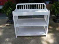 For Sale: White wooden baby changing table with 3