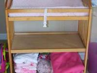 Baby changing table with upgraded pad. Good condition.