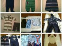 Baby clothes for sale sizes newborn-24 months. Carter's