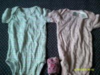 * Baby clothes lot 0-3 months- (2) onesies, pr. socks