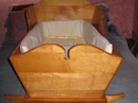 Description Home made Maple baby cradle includes the