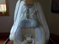 This swing is ideal for infants from birth to 6 months,