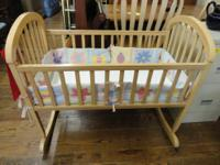 $50 ~ Baby Cradle Comes with Mattress Pad and Bumper