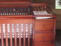 baby crib with attached changer excellent condition