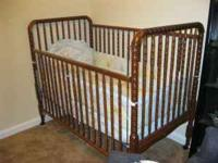 bark brown baby crib must go and must be picked up..