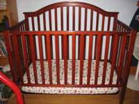 I'm selling a crib for $50.00. I bought it at Target a
