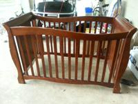 Crib and all hardware just need a little love $85 OBO