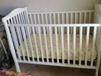 Practically new crib my baby slept in it for 1.5 months