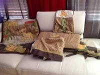 Lion king bedding set Includes sheet, bumper, curtains,