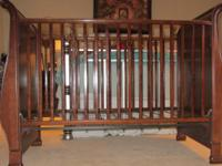 Simmons Drop-Side Crib. Made from real maple wood with