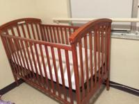 GENTLY USED CRIB BABY ONLY SLEPT IN IT LIKE THREE