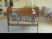 Crib comes with the mattress and bumper. For additional