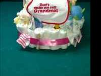 Two tier Diaper Cakes for boys or girls. Can be custom