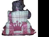Handmade diaper cakes made to order based on individual