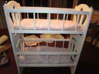 I have Baby Doll Bunk Bed for sale. Each bunk has pink