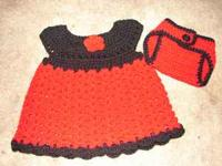 Brand new, handmade newborn up to 3 month dress. Bright
