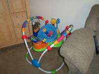 I am selling a like new baby einstein jumper for $40.