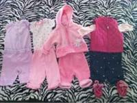 I have 4 baby girl outfits for sale. Price is $25 firm.