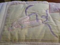 baby girl crib set.....includes: bumper pad, valance,