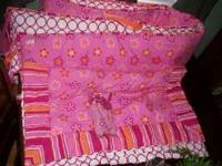 BABYLISCIOUS, SET COMES WITH BUMPER PAD, VALANCE, AND