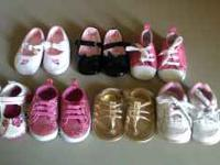 7 cute baby girl shoes. Sneakers were from payless for
