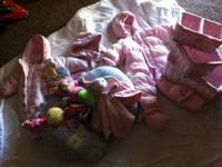 Get ready for the snow!!!  BABY GIRL SNOW SUITS & boots