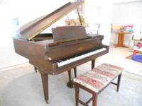 Baby Grand Piano with bench, by Vose and Sons, estab.