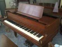 Voss and Sons (Boston) baby grand piano.....nice