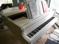 White Baby Grand Piano by Kimball. Beautiful. Paid