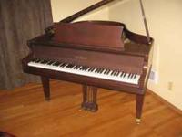 Baby Grand Piano, 1980 Chickering, Walnut finish,