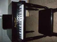 have very nice black baby grand childs piano. with