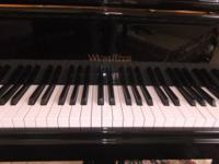 WURLITZER BABY GRAND PIANO WITH PADDED BENCHLIKE BRAND