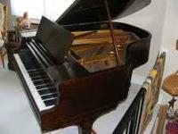 Two very unique upright pianos as well as a Kimball