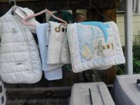 Blue double stroller = 12.00. All garments (clothing,